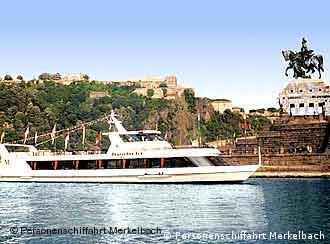 Koblenz's Deutsches Eck is a highlight on any Rhine boat tour