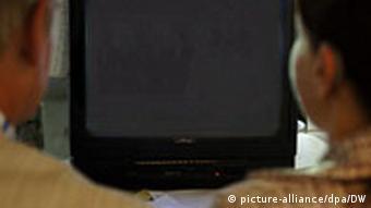 Symbolbild Grafik Fernseher schwarz ausgeschalteter Fernseher Zensur