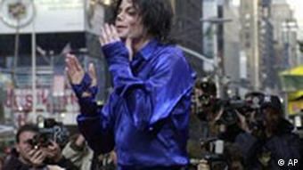 Popstar Michael Jackson in New York