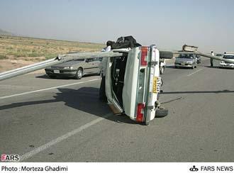نمونهای از تصادفهای جادهای در ایران