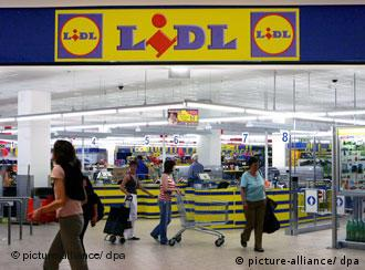 General view of a Lidl supermarket