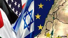 Symbolbild USA Israel Palästina Naher Osten Europa, Quelle: AP; Design: DW