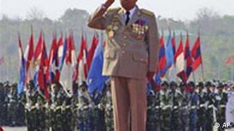 Myanmar's junta chief Senior Gen. Than Shwe