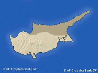 A map of Cyprus