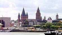 Mainz vom Fluss aus