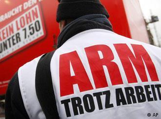 Sindicalistas alemães fazem campanha pelo salário mínimo