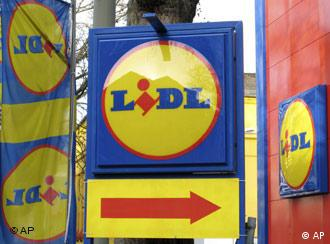 Yellow, red and blue circle logo of the German food discounter Lidl
