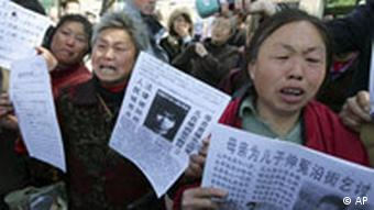 Demo in China. Quelle: ap