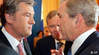 Ukraine's President Viktor Yushchenko and US President George W.Bush