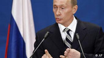 Putin addresses the media on the third day of the NATO summit