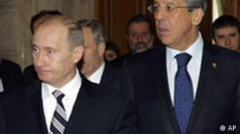 Russian President Vladimir Putin and Foreign Minister Sergey Lavrov