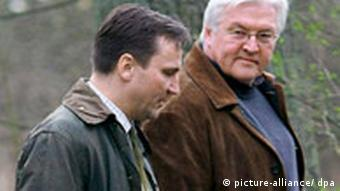 Polen Deutschland Außenminister Frank-Walter Steinmeier bei Radoslaw Sikorski