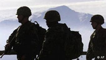 US-Soldaten an der kosovarisch-mazedonischen Grenze