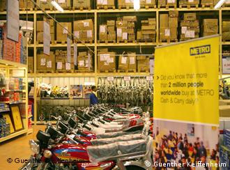 Cash and Carry-Shop der deutschen Metro-Gruppe