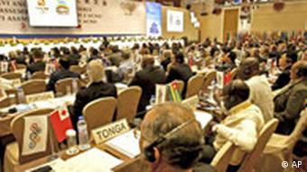 Delegates attend the IOC Executive Board Meeting held in Beijing, Tuesday, April 8, 2008
