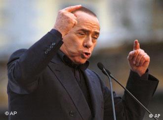 Tanto en la Cámara baja como en el Senado, Berlusconi tiene mayoría.