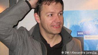 Steffen Möller z wizytą w rozgłośni Westdeutscher Rundfunk.