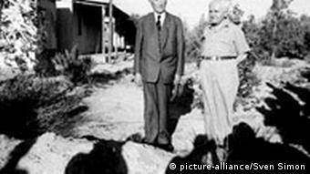 BG60JahreIsrael Adenauer und Ben Gurion
