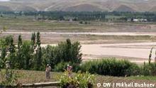 An der Grenze zwischen Usbekistan und Kirgistan Kirgisien