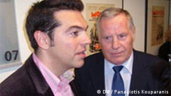Alexis Tsipras mit Lothar Bisky
