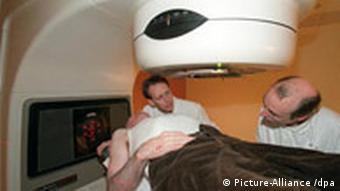 A person undergoes radiation thearpy