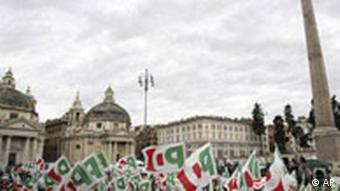 Wahlkampf in Rom, Unterstützer der Mitte-Links-Kandidat