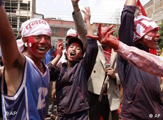 Maoists Supporters celebrate their victory