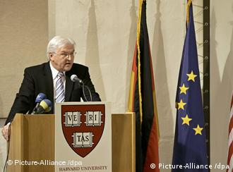 Frank-Walter Steinmeier spoke at Harvard University