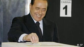 Jahresrückblick 2008 Mai International Berlusconi gewinnt in Italien