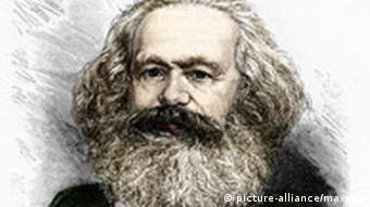 Portrait of the 19th century German historian and revolutionary