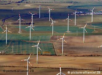 Поле с ветряными мельницами