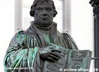 Part of the Luther monument in the town Wittenberg, eastern Germany