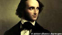Felix Mendelssohn-Bartholdy / W.Hensel Mendelssohn-Bartholdy, Felix Komponist, Hamburg 3.2.1809 - Leipzig 4.11.1847. - Portraet. - Gemaelde, 1847, von Wilhelm Hensel (1794-1861). Oel auf Leinwand, 92 x 76 cm. Duesseldorf, Stadtmuseum.