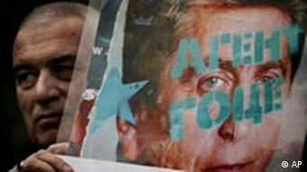 Protest gegen den bulgarischen Präsidenten Georgi Parvanov