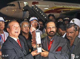 奥运火炬在新德里传递顺利