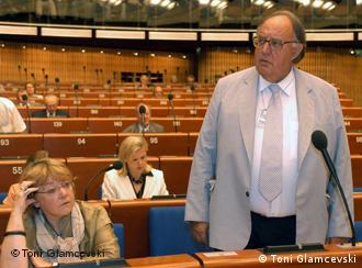 ehemaligen Grieschischen Aussenminister Theodoros Pangalos Foto: Toni Glamcevski DEUTSCHE WELLE HAS THE RIGHTS TO PUBLISH ALL THE PHOTOS SENT FROM MYSELF Toni Glamcevski, WITH NO TIME LIMIT.