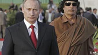 Libyen-Reise Putin bei Gadhafi