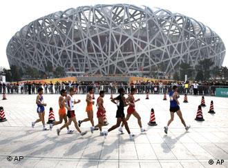 The atmosphere is likely to be tense right up until the opening of the Olympics in Beijing in August