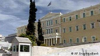 Greek Parliament building in Athens