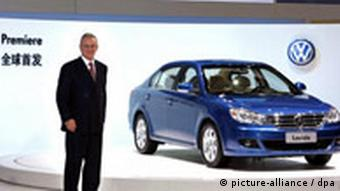 VW CEO at the Beijing Auto Show