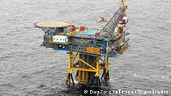 An offshore Norwegian gas drilling platform