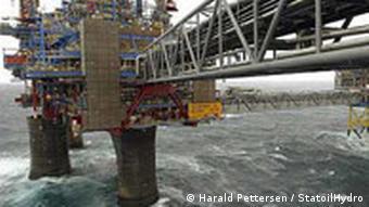 Буровая вышка фирмы Statoil в Северном море
