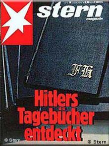 Das Titelblatt der Stern-Ausgabe Hitler Tagebücher entdeckt (1983, Quelle: Stern)
