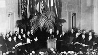 The founding of NATO on 4 April 1949