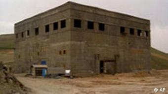 Ein verdeckter syrischer Atomreaktor in der Nähe von Al Kibar (24.4.2008, Quelle: AP)