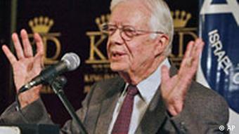 Israel USA Palästinenser Jimmy Carter in Jerusalem