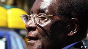 Simbabwe Wahlen Präsident Robert Mugabe in Harare