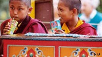 Kinder in Dharamsala Tibet