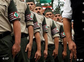 Венгерская гвардия на одной из акций в Будапеште
