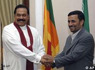دیدار  احمدینژاد از سریلانکا در سال ۲۰۰۸